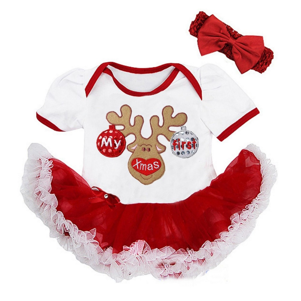 Baby Girl Christmas Clothes My First Xmas Reindeer , 1 st Santa ...
