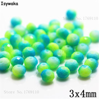 Isywaka 3X4mm 30,000pcs Rondelle Austria faceted Crystal Glass Beads Loose Spacer Round Beads for Jewelry Making NO.06