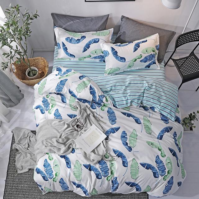 Bedding Set luxury Pink love 3/4pcs Family Set Include Bed Sheet Duvet Cover Pillowcase Boy Room flat sheet No filler 2019 bed