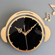 Fashion Creative art Wall clock music Flying Musical note wall clock art Wall clock wall Watch Living room decoration