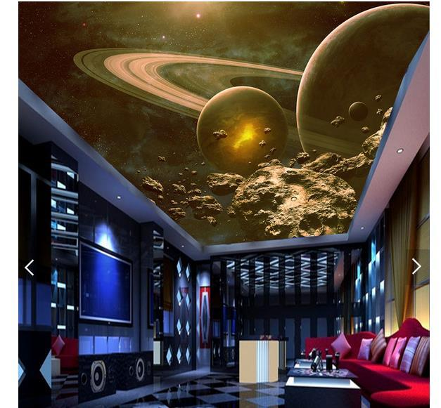 3d photo wallpaper custom 3d ceiling wallpaper murals Space Planet zenith mural ceiling background wall papers for living room