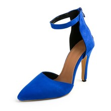 women Pointed Toe High heels shoes woman shallow slingback pumps ladies Buckle Strap Party Wedding stilettos shoes 588