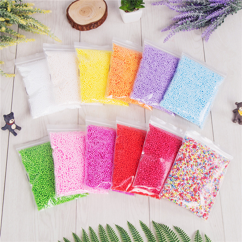 Toys & Hobbies Supply 1 Pack 2-6mm Diy Snow Mud Particles Accessories Slime Balls Small Tiny Foam Beads For Floam Filler For Diy Supplies