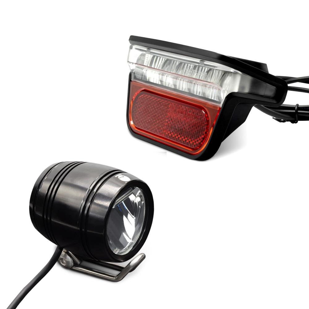 Onature powerful electric bike light set with ebike headlight and e bike rear light DC12V 36V 48V 60V 72V LED ebike light|Electric Bicycle Accessories| |  - title=