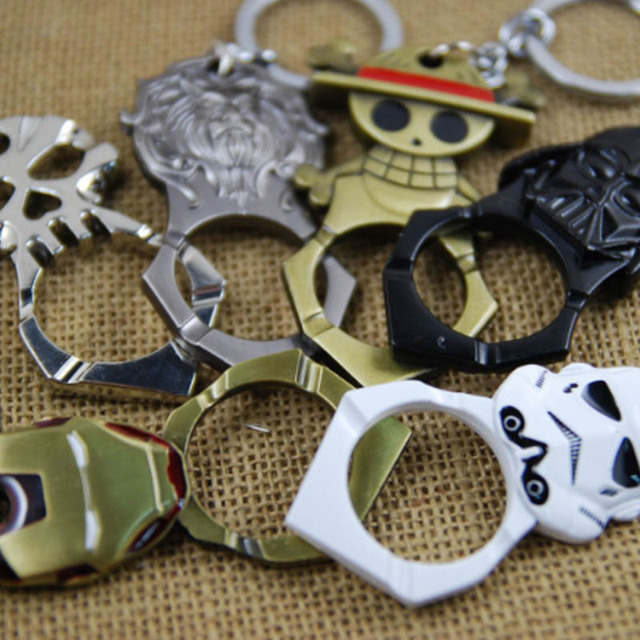 One Piece Wine Opener Car Key Ring
