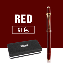 School Office Stationery Supplies Duke Luxury Wine Red and Gold Clip Rollerball Pen 0.7mm Metal Ballpoint Pens for Gift
