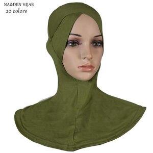 Fashion women inner hijabs cross type modal soft Ninja cap hijab fashion design islamic under caps good quality breath 20pcs/lot
