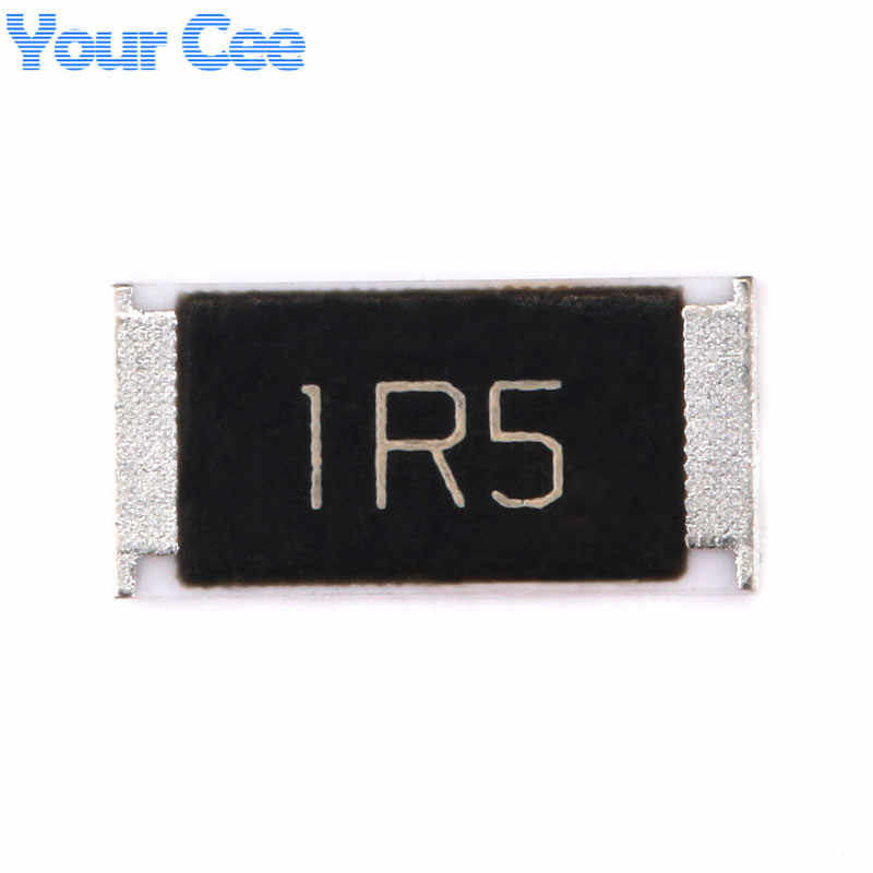 50 Pcs 2512 SMD Resistor 1 W 1.5 Ohm 1.5R 1R5 5% Chip Resistor Kit Set