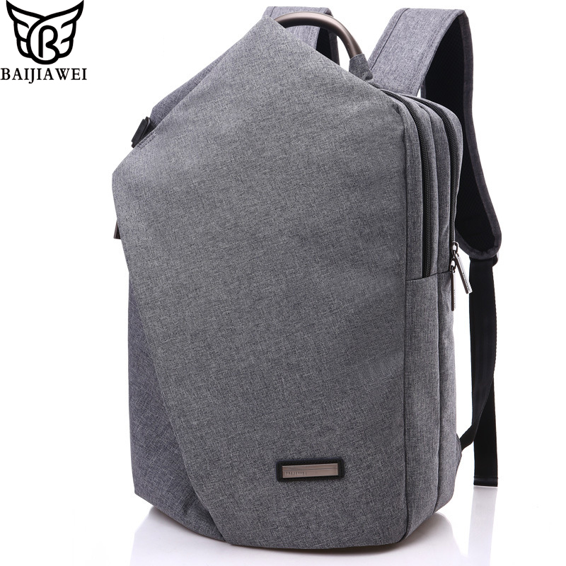 BAIJIAWEI 2017 Fashion Design Men Backpacks Casual Bussiness Bag Big Capacity Travel Bags 15.6 inch Laptop Backpack Mochila Zip foru design 600d fashion backpack brand design school book bag polyester bag men computer packsack swiss outsports backpacks