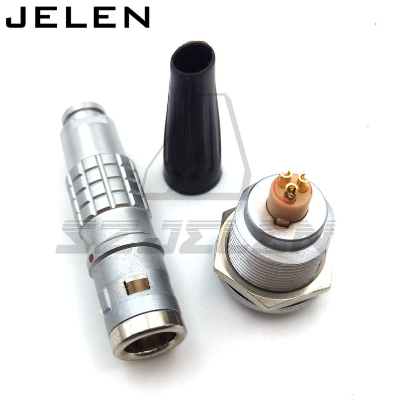 LEMO 1K plug and socket 3 pin Automotive Connectors, metal waterproof 3 pin connector,  PN: FGG.1K.303.CLAC/ EGG.1K.303.IP68 lemo connector 3 pin ffa 0s 303 era 0s 303 sensor connectors communication connectors 3 pin power plug and socket