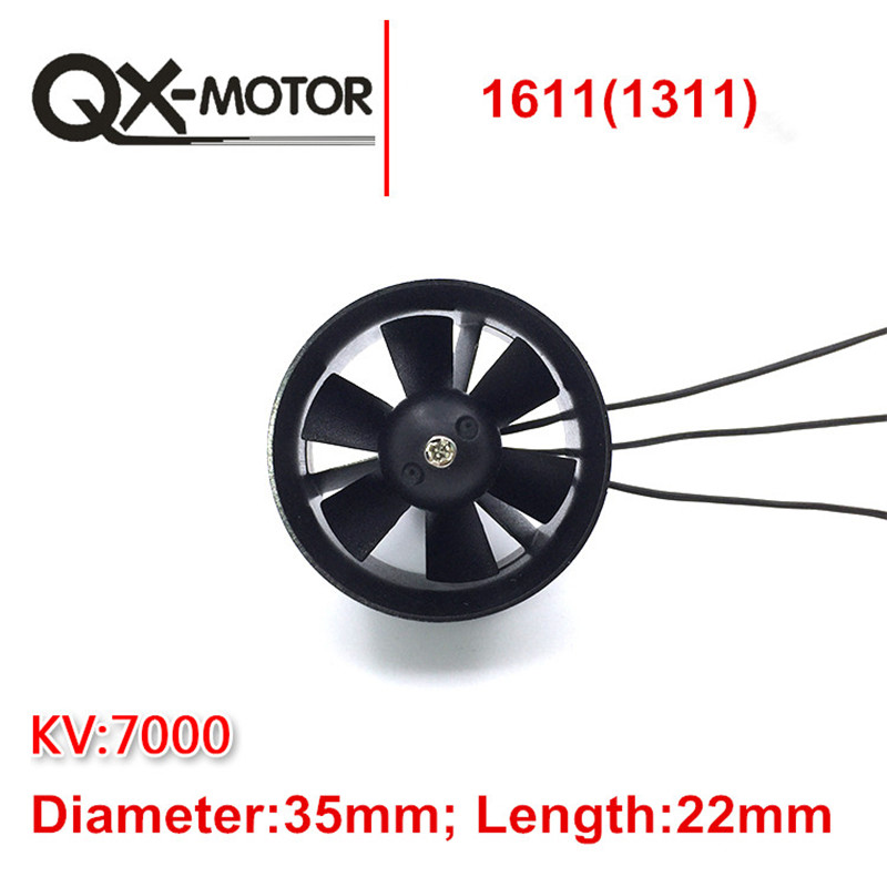 QX_MOTOR DIY EDF Ducted Airplane Fan 30mm / 55mm / 64mm / 70mm / 90mm with Brushless Motor free ship 5 blade 64mm outrunner ducted fan 4300kv brushless motor 30a esc for lipo rc jet edf plane airplane fan