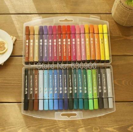 36 цветов/комплект Горячая Бесплатная доставка понять бренда акварель ручка ребенка и маленьких детей не токсичен и моющиеся цвет кисти