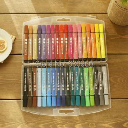 36 colors/set HOT free shipping Grasp brand watercolor pen the baby and young childrens non-toxic and washable color brush
