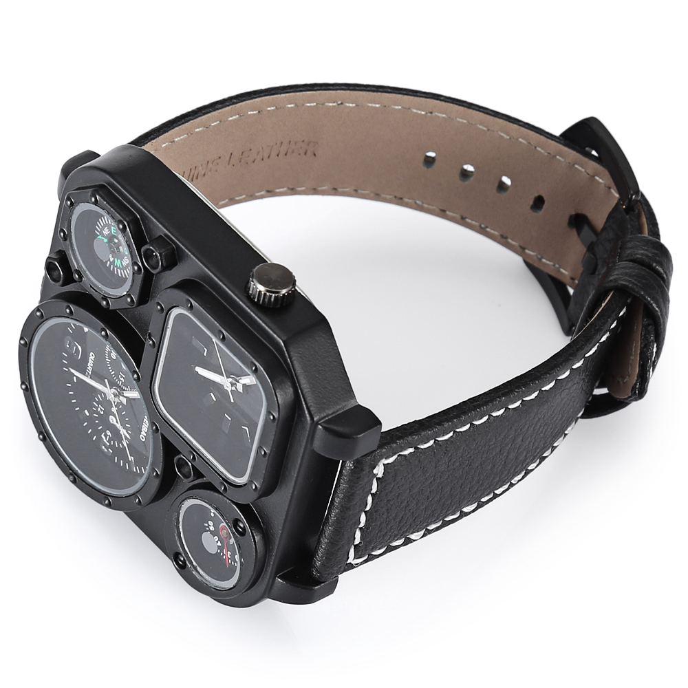 DUAL TIME ZONES ARMY MILITARY WATCHES FOR MEN QUARTZ WATCH FREE SHIPPING LUXURY BRAND DZ CLOCK MAN drop shipping (3)