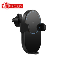 In Stock 20W Xiaomi Wireless Car Charger Max Electric Auto Pinch 2.5D Glass Ring Lit For Mi 9 (20W) MIX 2S / 3 (10W) Qi
