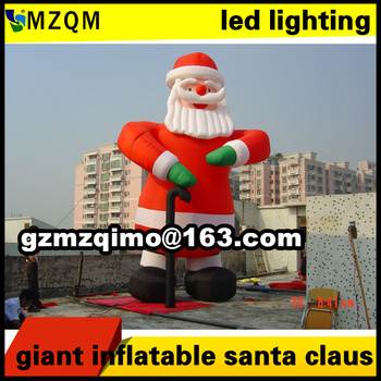 Free sea shipping Giant Inflatable Santa Claus high christmas santa claus inflatable for outdoor advertising