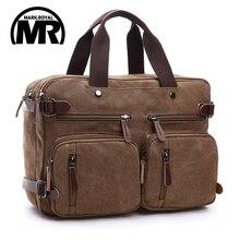 Markroyal Leinwand Leder Männer Reisetaschen Handgepäck Taschen Männer Reisetaschen Travel Tote Verstecken Die Schultergurt Handtaschen Schule