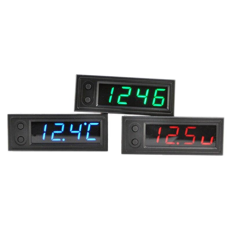 Eiemsun DIY multifunción de alta precisión reloj dentro y fuera del coche voltaje de la batería la temperatura Monitores panel meter DC 12 V