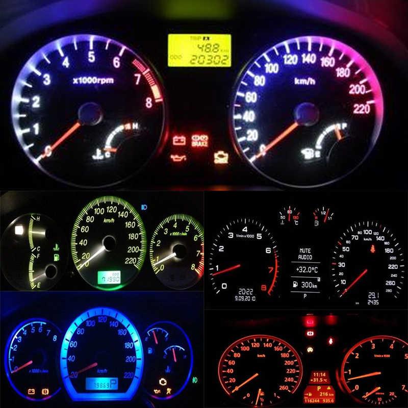 AYJERY 10 個ホワイトブルーアンバーレッド緑赤 BA9S T4W T11 1 LED LED 車のライトミックス色 12V DC Led 電球オート車ライト
