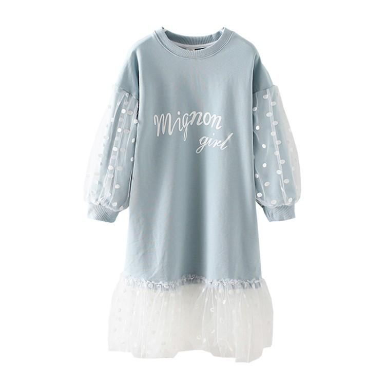 Kids Girls Dot Dress Princess Girl Lantern Sleeve Tulle Dress 2019 Party Wedding Vestidos Infant Children Clothing 6