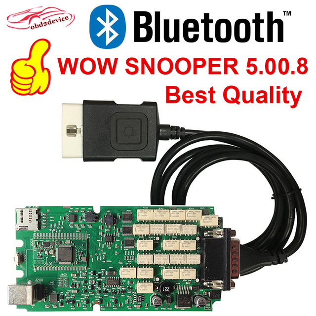 2019 NEC Relays WOW SNOOPER high quality single board Wurth 5 008+Bluetooth  Diagnostic-tool TCS CDP NEW VCI MVDIAG Free Shipping