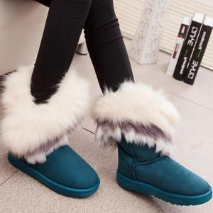 Image 5 - Fox Snow Women Winter Boots Fashion Ladies Ankle Booties Fur Bota Feminino Warm Casual Shoes Fuzzy Female Fether Shoes Cute