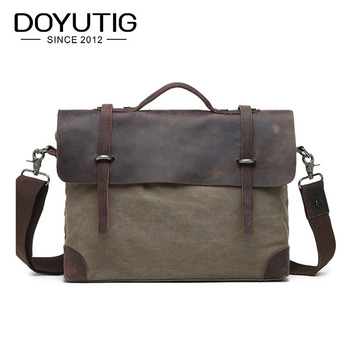High Quality Multifunction Canvas Bags Men Business Bag Casual Handbag Men Messenger Bag New Computer Vintage Briefcase G030