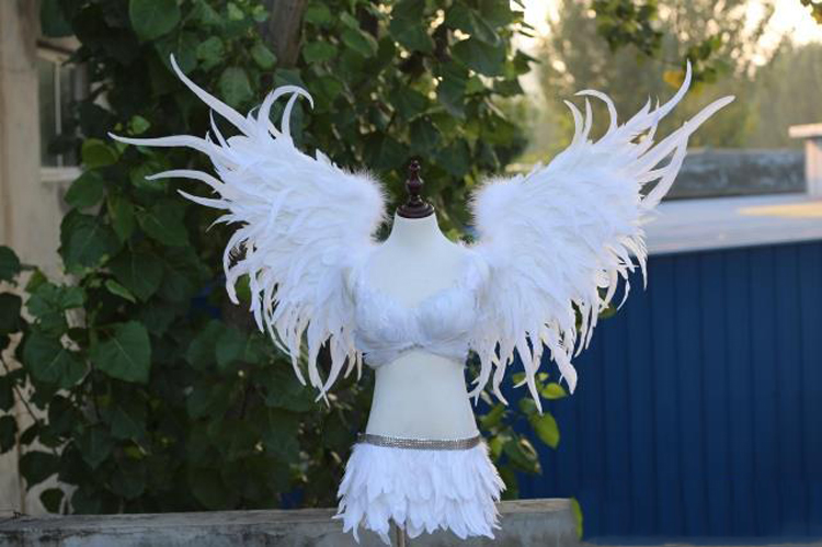 white angel feather wings for Cosplay photography Game Display Game shooting props Angle Wings Props free shipping