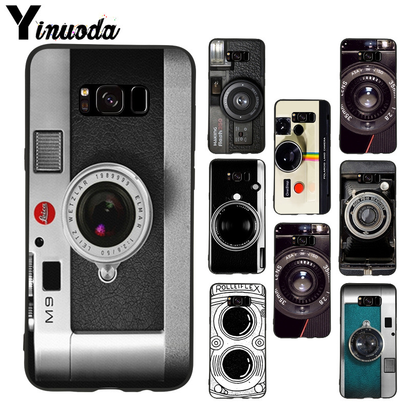 Yinuoda old Camera soft tpu phone case cover for samsung galaxy s8plus s9plus s7 s6 edge plus note8 case