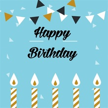 Laeacco Cartoon Happy Birthday Candle Baby Party Photographic Backgrounds Customized Photography Backdrops For Photo Studio