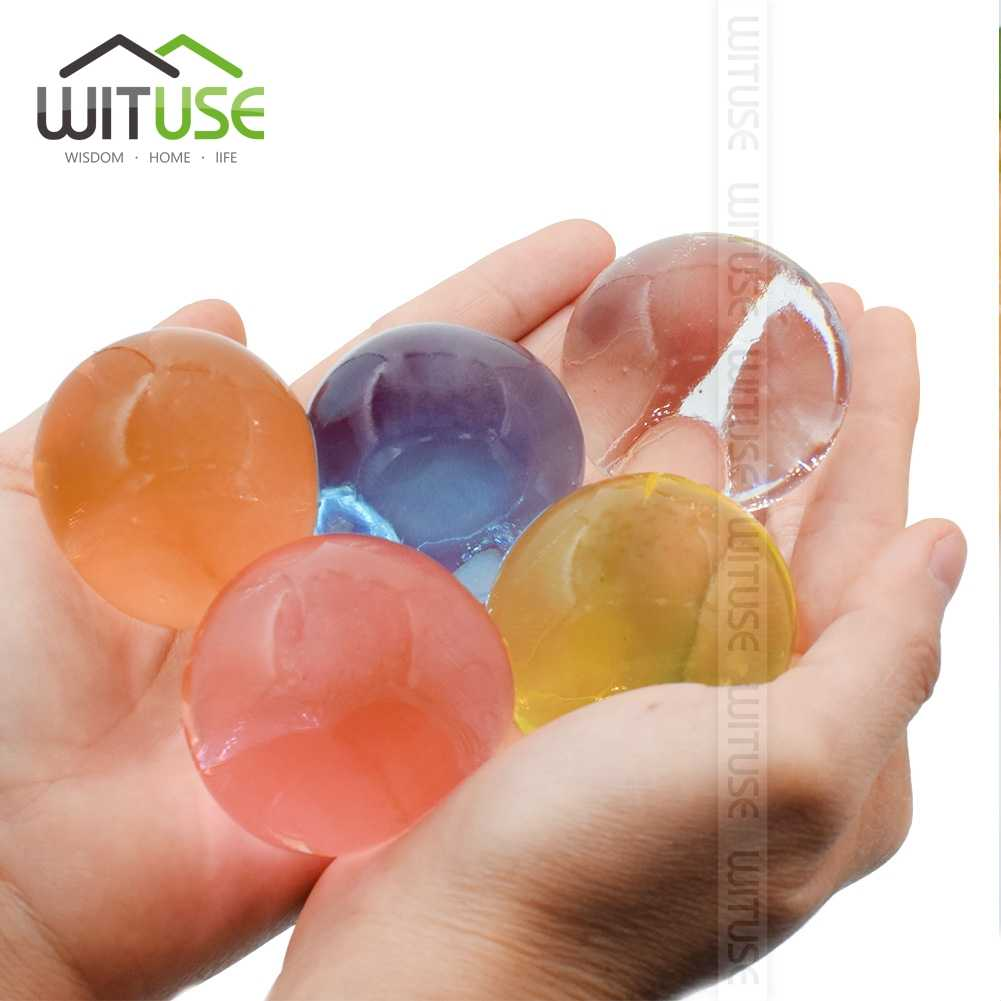 WITUSE 100pcs/lot Large Hydrogel Pearl Shaped Big 3-4cm Crystal Soil Water Beads Mud Grow Ball Wedding Orbeez Growing Bulbs