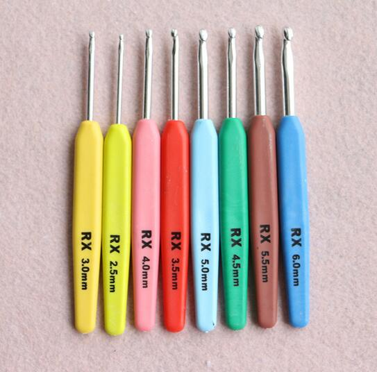 50sets Multi-colour 16pcs Aluminum Set Crochet Hooks Needles Knit Weave Craft Yarn For Home Sewing Needlecrafts