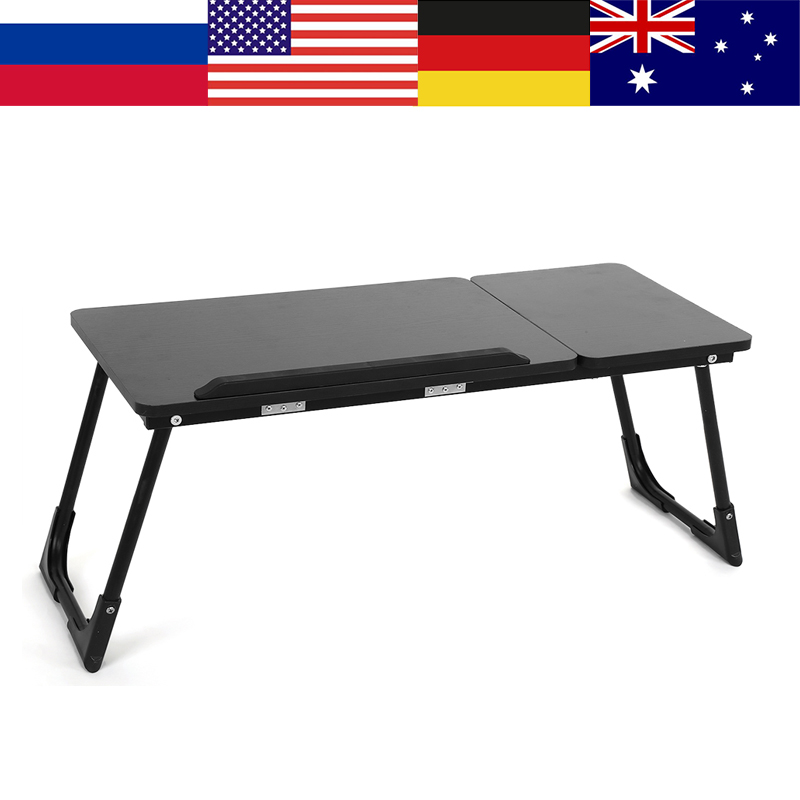 Fashion Portable Adjustable Folding Wooden Laptop Table Sofa Bed Office Laptop Stand Desk Computer Notebook Bed Table