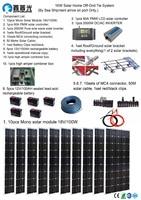 Solar panel system 12V 110V 220V 1000W Solar Home off grid tie systems sea shipment 10pcs 100W solar modules bracket battery
