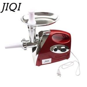 Image 5 - Jiqi moedor de legumes elétrico, máquina multifuncional para enchimento de linguiça, cortador de legumes 110v 220v