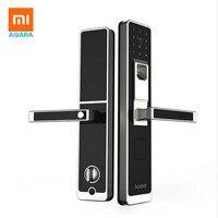 Оригинальный xiaomi mi Цзя aqara дверной замок, цифровой Сенсорный экран Keyless Отпечатков пальцев + пароль работы mi приложение home телефон управлени