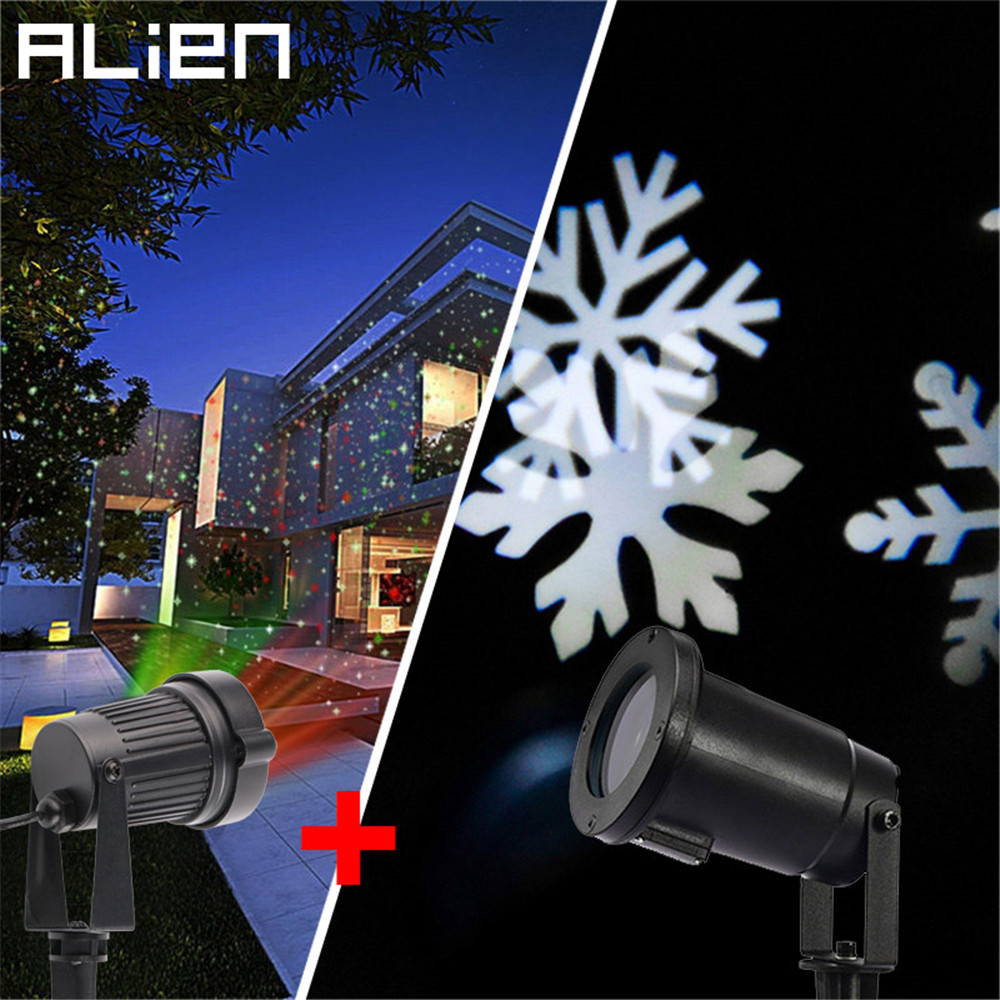 ALIEN Mixed RG Static Star Laser Light Projector And Led Snowflake Effect Outdoor Waterproof Christmas Holiday Tree Lighting rakesh kumar tiwari and rajendra prasad ojha conformation and stability of mixed dna triplex