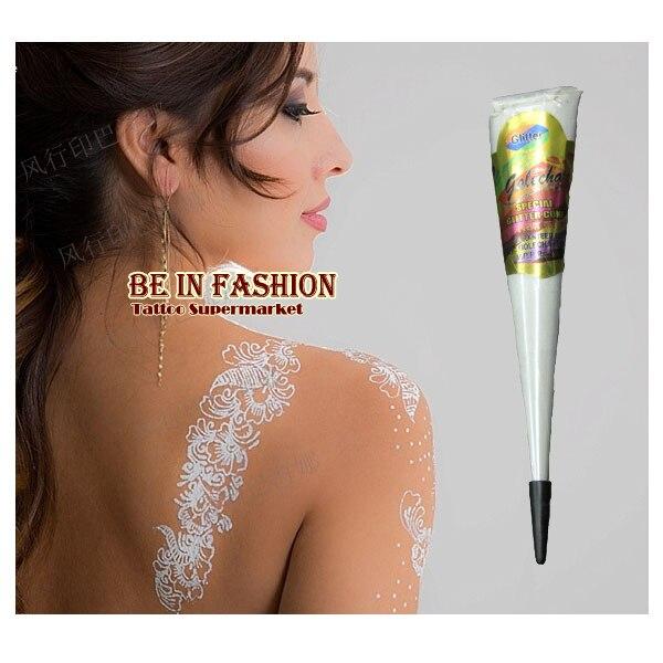 New White Henna Tattoo Paste Cone Women Lady Bride Party Wedding