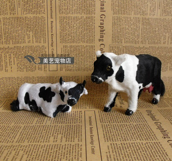 Regalo Mucca Da Latte.Giocattolo Di Simulazione Vacca Da Latte Modello Di Artigianato Plastica E Pelliccia Di Mucca Decorazione Della Casa Giocattolo Regalo Di Natale