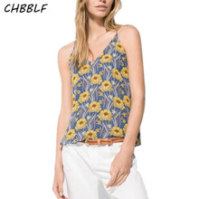 Summer New European Printed Chiffon Sexy Top Women Printing Camis Women's Camis Hjh1162