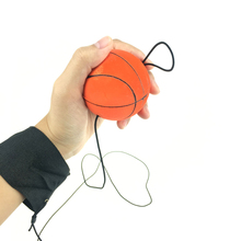 Случайные цвета прыгающий палец упражнения резиновый мяч отскок мяч для бокса для работы