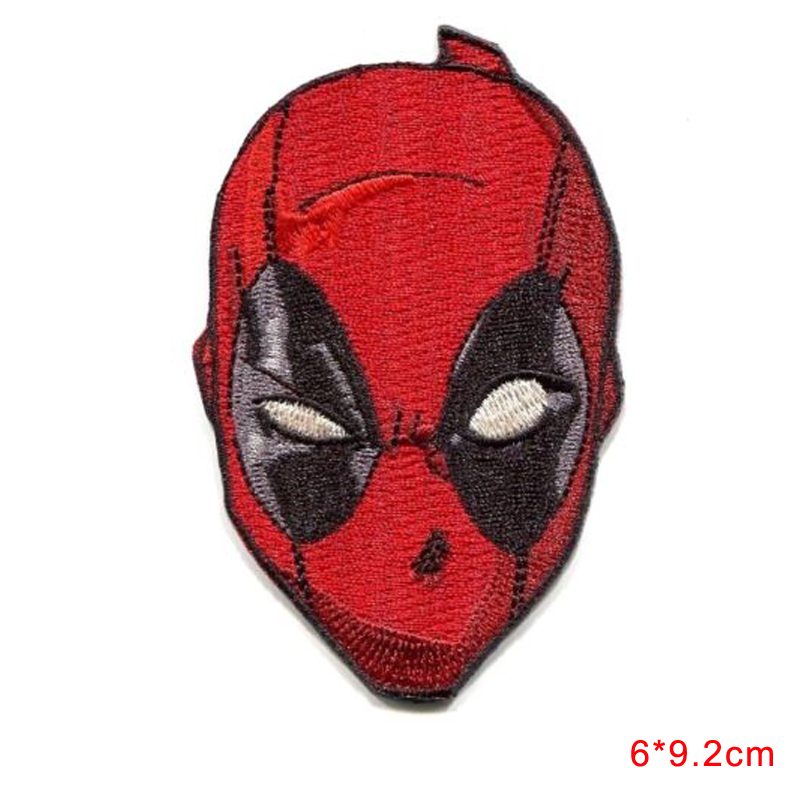 new arrive DEADPOOL Mask IRON-ON Comic Embroidered Applique Patch DIY Hobby Clothes
