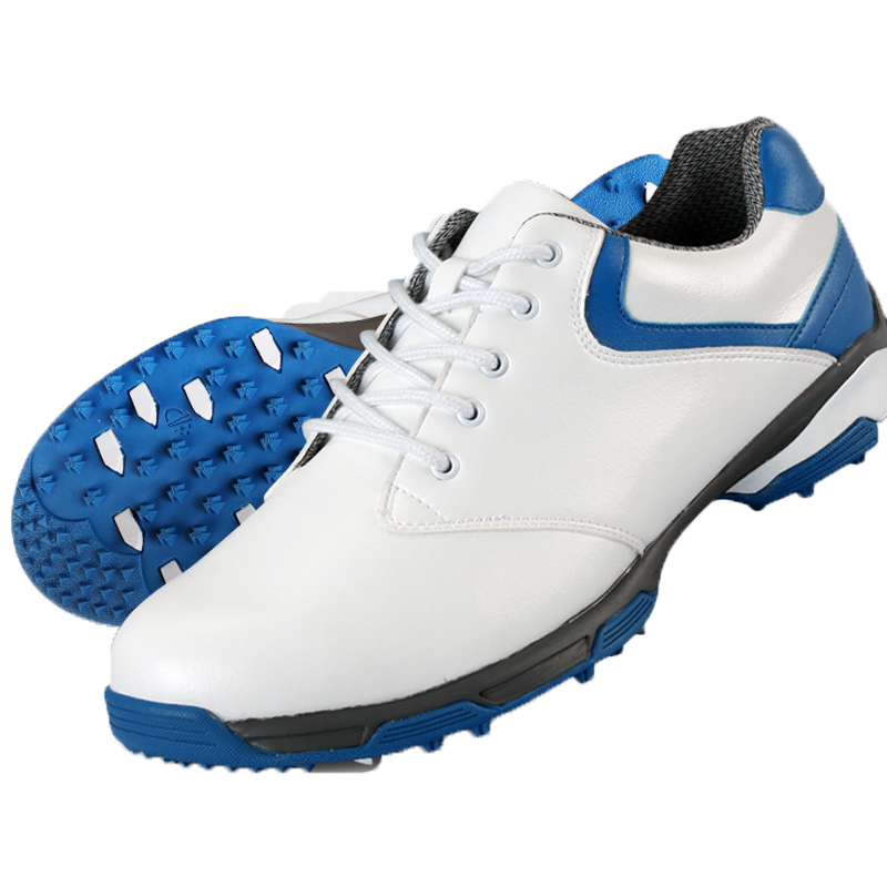 ФОТО waterproof breathable patent design men outdoor sport shoes anti-skid super light good grip comfortable leather golf shoes
