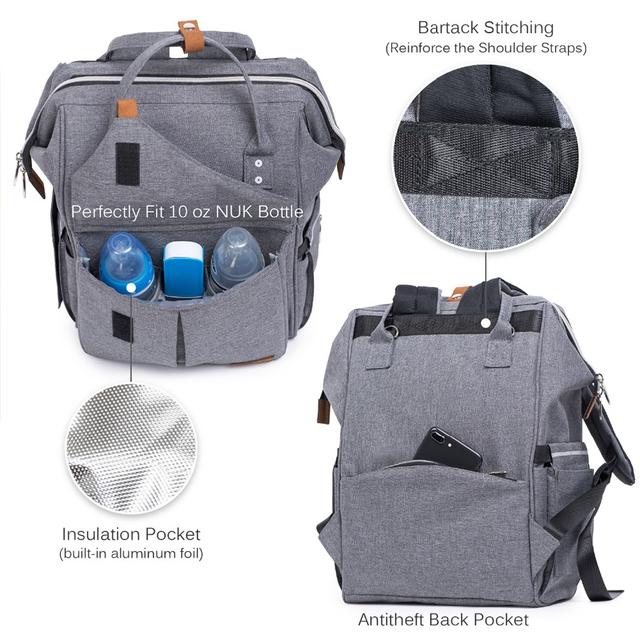 Multifunction Waterproof Travel Diaper Backpack for Mom