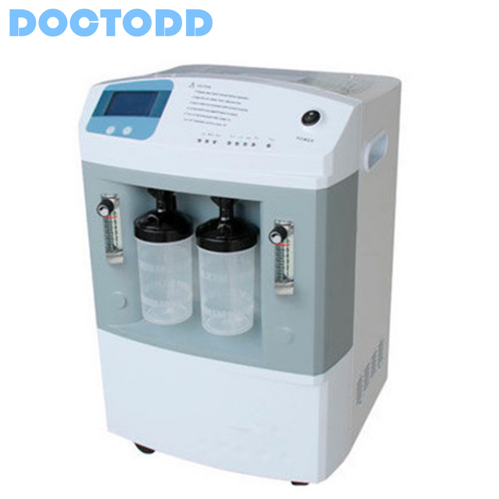 Dual Flow Medical Healthcare Oxygen Concentrator 5L with Nebulizer COPD Oxygen Generator CE Approved O2 Making Machine healthcare oxygen concentrator continuous flow mini oxygen generator for outdoor home medical use moveable o2 concentrator
