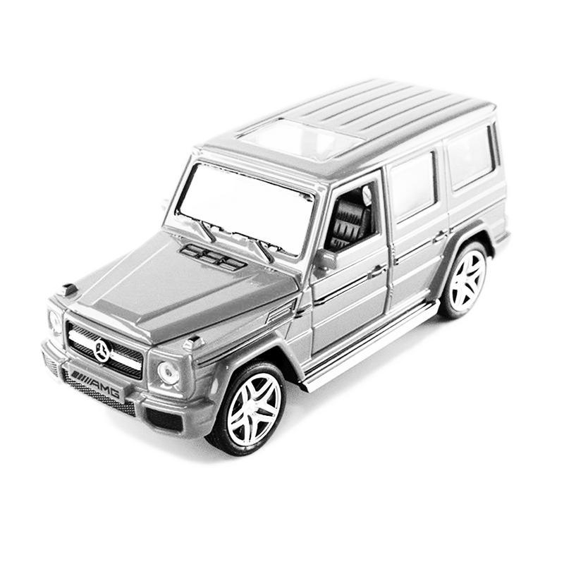 Модель автомобиля из 1:32 сплава, модель автомобиля, игрушечный звуковой светильник, игрушечный автомобиль для G65 SUV AMG, игрушки для мальчиков, детский подарок - Цвет: Белый
