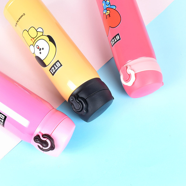 BTS BT21 STAINLESS STELL TRAVEL THERMOS (8 VARIAN)