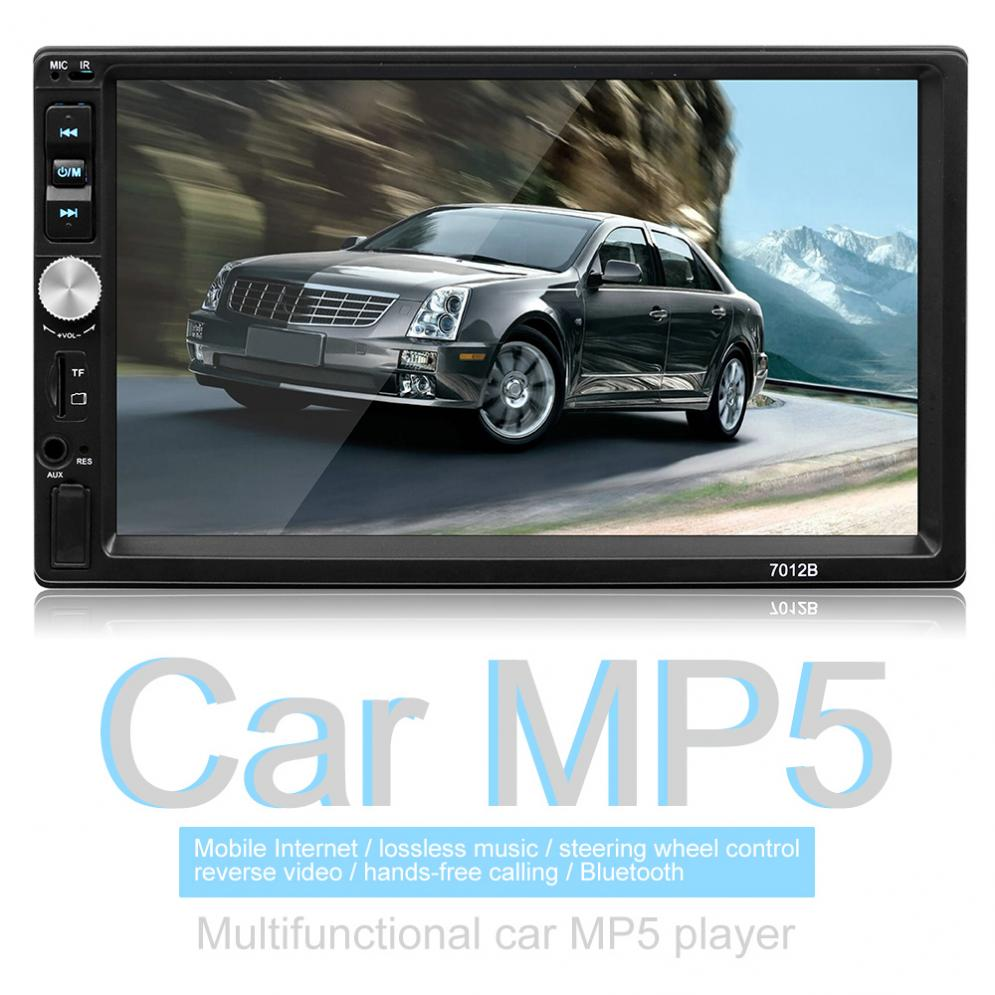 7 Inch Bluetooth 2 DIN In Dash Touch Screen Car Video FM Radio Stereo Player Support Mirror Link for iPhone and Android/Aux In