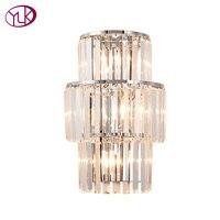 Youlaike Новый светодио дный современный светодиодный Кристалл лампы Роскошные AC90 260V серебро/золото Крытый настенные бра осветительное оборуд