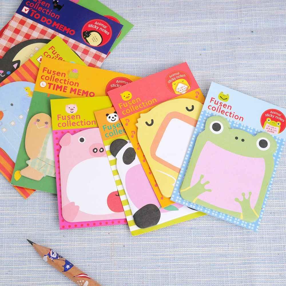 1 pièces papeterie créative forêt animaux série mignon papier mémo bloc/autocollant Post autocollants bloc-Notes fournitures de bureau scolaire